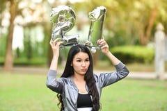 Belle femme de belle santé verte naturelle des filles 21 Photo libre de droits