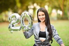 Belle femme de belle santé verte naturelle des filles 20 Images stock