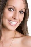 Belle femme de sourire image stock