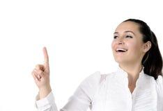 Belle femme de sourire d'affaires Images stock