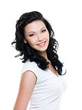 Belle femme de sourire heureuse Image stock