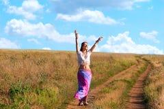Belle femme de sourire heureux Image libre de droits