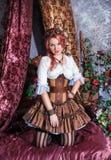 Belle femme de steampunk images stock