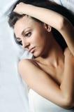 Belle femme de verticale Photographie stock libre de droits