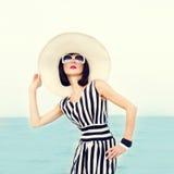 belle femme des vacances Image libre de droits