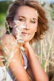 Belle femme en été Photographie stock libre de droits