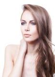 Belle femme en bonne santé avec de longs cheveux photographie stock libre de droits