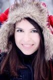 Belle femme en hiver Photographie stock