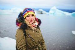 Belle femme en Islande Image libre de droits