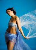 Belle femme en soie Photo libre de droits