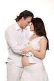 Belle femme enceinte et son mari. Image libre de droits