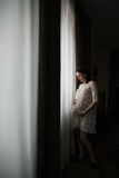 Belle femme enceinte heureuse photo libre de droits
