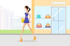 Belle femme faisant des achats Image stock