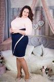 Belle femme fraîche sûre plus la taille Photo libre de droits