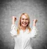Belle femme heureuse image libre de droits