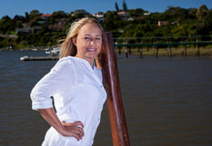 Belle femme mûre blonde Image libre de droits