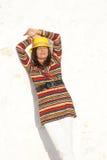 Femme mûre relaxed de portrait colorée Photos libres de droits