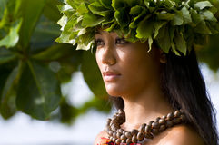 Belle femme polynésienne