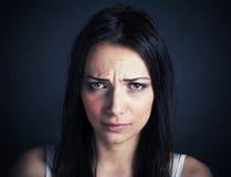 Belle femme triste photographie stock libre de droits