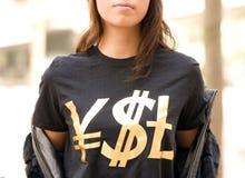 T-shirt noir de Yves Saint Laurent Photographie stock libre de droits