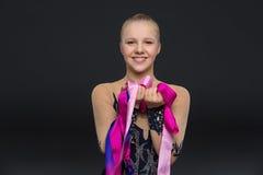 Belle fille adolescente de gymnaste Image stock