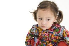 Belle fille américaine japonaise d'enfant en bas âge photo libre de droits