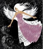 Belle fille - ange illustration stock