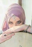 Belle fille avec des œil bleu Photos libres de droits