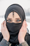 Belle fille avec des œil bleu Images libres de droits