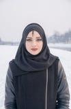 Belle fille avec des œil bleu Photographie stock libre de droits