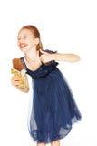 Belle fille avec du chocolat Photographie stock libre de droits