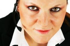 Belle fille avec l'écouteur photo libre de droits