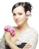Belle fille avec la peau parfaite Photographie stock libre de droits