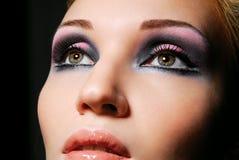 Belle fille avec le bel oeil Photo stock