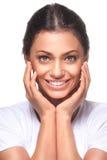 Belle fille avec le joli sourire Image libre de droits