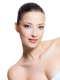Belle fille avec le visage de beauté Photographie stock libre de droits