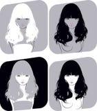 Belle fille avec un cheveu circulant Photographie stock