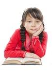 Belle fille avec un livre Images libres de droits