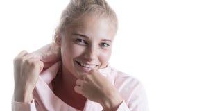 Belle fille avec un sourire photos stock
