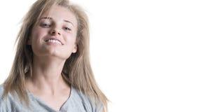 Belle fille avec un sourire photos libres de droits