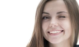 Belle fille avec un sourire Photographie stock libre de droits