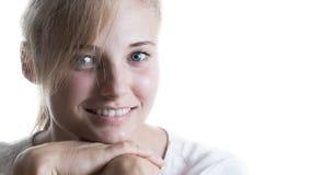 Belle fille avec un sourire photographie stock