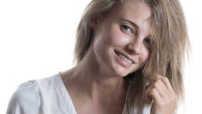 Belle fille avec un sourire photo stock