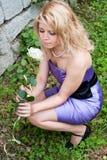 Belle fille, blonde Photographie stock libre de droits