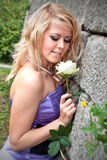Belle fille, blonde Photographie stock
