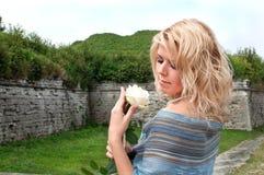Belle fille, blonde Image stock