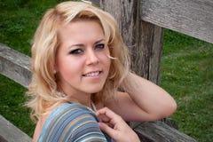 Belle fille, blonde Images libres de droits