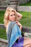 Belle fille, blonde Images stock