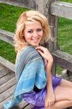 Belle fille, blonde Image libre de droits