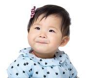 Belle fille d'Asiatique de bébé image libre de droits